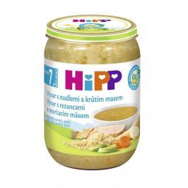 HIPP POLÉVKY BIO Vývar s nudlemi a krůtím 190 g