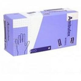 AMBULEX nepudrované nitrilové rukavice velikosti L 100ks
