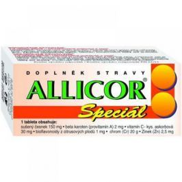Allicor Super česnek+vitamin C 60 tablet