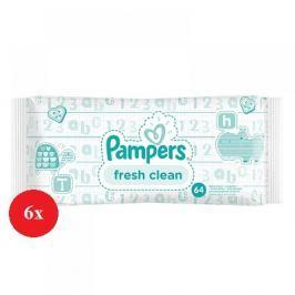 Pampers Baby Fresh vlhčené ubrousky 6 x 64 ks