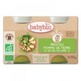 BABYBIO zeleninový příkrm brokolice a brambory 2x130 g