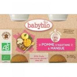 Babybio ovocný příkrm jablko, mango 2 x 130 g