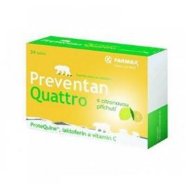 FARMAX Preventan Quattro s citronovou příchutí 24 tablet