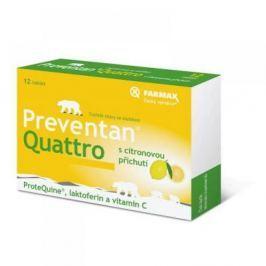 FARMAX Preventan Quattro s citronovou příchutí 12 tablet