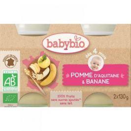 BABYBIO příkrm jablko s banánem 2x130 g