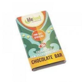 LIFEFOOD MINI čokoládka slaná se spirulinou BIO 15 g