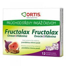 ORTIS Fructolax Ovoce & Vláknina 12 žvýkacích kostek