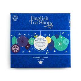 ENGLISH TEA SHOP vánoční čaj Modré ozdoby BIO 96 nálevových sáčků