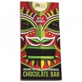 LIFEFOOD Chocolate BIO s kousky ořechů a třešní 70 g