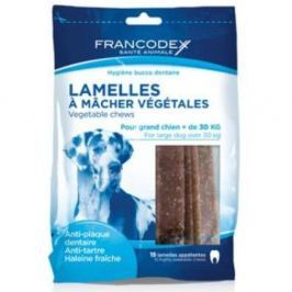 FRANCODEX Weggy žvýkací plátky L pes 490 g 15 kusů