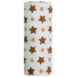 T-TOMI Bambusová osuška béžové hvězdičky 1 kus