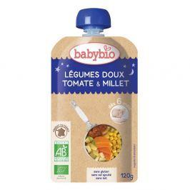 BABYBIO kapsička večerní pyré sladká zelenina s rajčaty a prosem 120 g