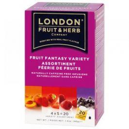 LONDON HERB Čaj Fruit Fantasy Variety pack-ovocné variace 20x2g