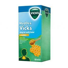 MedDex Vicks sirup na suchý kašel s medem (120 ml)
