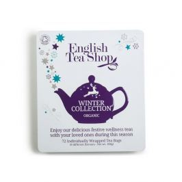 ENGLISH TEA SHOP Bio čaj v plechové kazetě Vánoční zima 72 sáčků