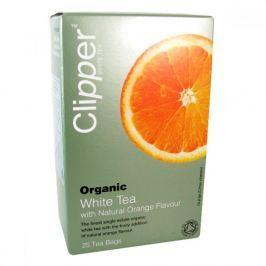 Čaj Clipper organic white tea + Orange 25x2g