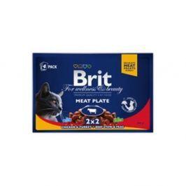 BRIT Premium Cat kapsa Meat Plate 400 g (4x100 g)