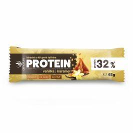 ALLNATURE Proteinová křupavá tyčinka 32% vanilka a karamel 45 g VÝPRODEJ exp. 31. 12. 2018