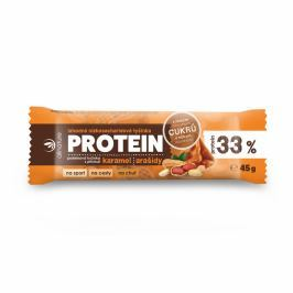 ALLNATURE Proteinová nízkosacharidová tyčinka 33% karamel a arašídy 45 g VÝPRODEJ exp. 31. 12. 2018