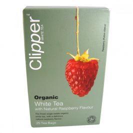 Čaj Clipper organic white tea + Raspberry 25 x 2 g
