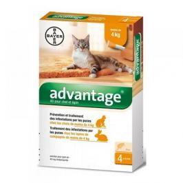 Advantage S.O. kočka a.u.v. do 4kg - 4×0,4ml
