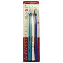 SWISSDENT WHITENING soft zubní kartáčky 3ks (tyrkysový,bílý,tmavě modrý)