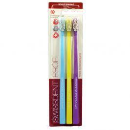 SWISSDENT WHITENING Soft zubní kartáčky 3 ks (modrý,žlutý,purpurový)