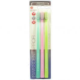 SWISSDENT GENTLE zubní kartáčky Extra Soft 3 ks