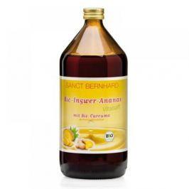 SANCT BERNHARD 100% BIO zázvorovo-ananasový sirup s kurkumou 1l