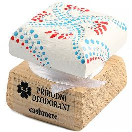 RAE Přírodní krémový deodorant cashmere barevná krabička 15 ml Tuhé antiperspiranty a deodoranty