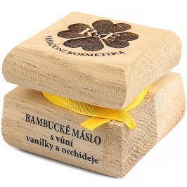 RAE Bambucké máslo s vanilkou a orchidejí čístá dřevěná krabička 30 ml