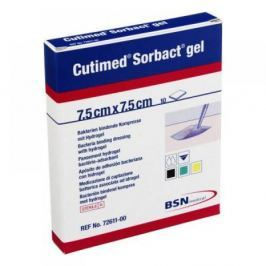 Cutimed Sorbact gel 7.5 x 7.5 cm 10 ks antimikrobiální krytí