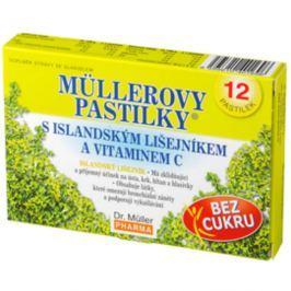MÜLLEROVY PASTILKY s islandským lišejníkem bez cukru 12 ks