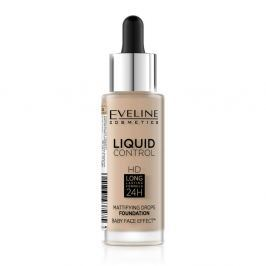 EVELINE COSMETICS Liquid Control HD tekutý make-up s kapátkem 040 WARM BEIGE 32 ml