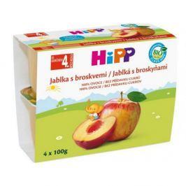 HiPP OVOCE 100% BIO Jablka s broskvemi 4x100g 5805