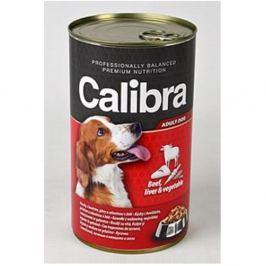 CALIBRA Dog konzerva hovězí+játra+zelenina v želé 1240 g