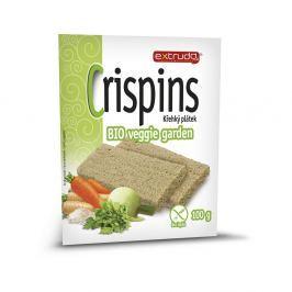 EXTRUDO Cereální křehký chléb Crispins BIO Veggie garden bez lepku 2x50 g