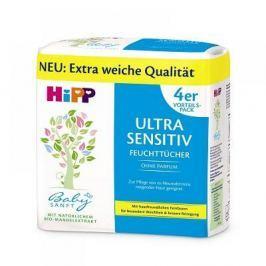 HiPP BabySanft Čistící vlhčené ubrousky Ultra Sensitiv 4 x 52 kusů