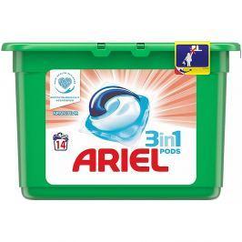 ARIEL Sensitive kapsle na praní prádla 3v1 šetrné 14 praní