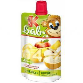 KUBÍK Baby Ovocná kapsička Jablko-Banán-Rýžová krupice 120 g
