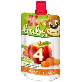 KUBÍK Baby Ovocná kapsička Jablko-Mrkev 120 g