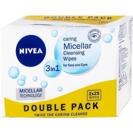 NIVEA Micelární čisticí pleťové ubrousky 3v1 2x 25 ks