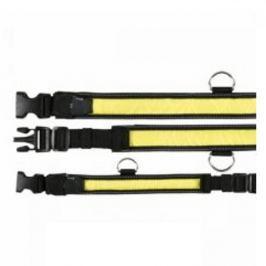 Obojek blikací nylon žluto/černý 30-40/25mm TR 1ks
