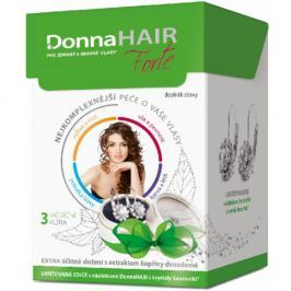 DONNA Hair Forte 3 měsíční kúra 90 tobolek + náušnice se Swarovski krystaly