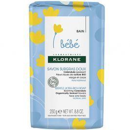 KLORANE Bébé Velmi jemné výživné mýdlo 250 g Dermokosmetika pro děti