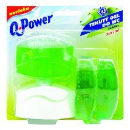 Q power tekutý závěs 3x55ml jablko Dezinfekční prostředky na WC