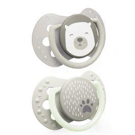 LOVI Dudlík silikonový dynamický 0-2m BUDDY BEAR 2 ks