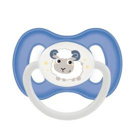 CANPOL BABIES Dudlík silikonový symetrický BUNNY&COMPANY 0-6m modrý Dudlíky pro děti 0 - 6 měsíců