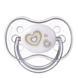 CANPOL BABIES Dudlík silikonový symetrický NEWBORN BABY 6-18m béžový