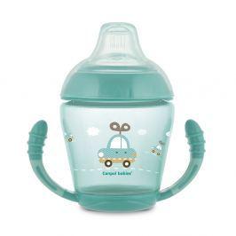 CANPOL BABIES Nevylévací hrníček se silikonovým pítkem TOYS tyrkysový 230 ml Hrníčky a pítka pro děti
